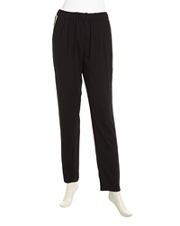 Romeo And Juliet Couture Draped Relaxed Stripe Charmeuse Pants Black Beige