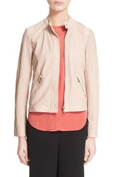 Women's Rebecca Taylor Perforated Leather Jacket Sheer Pink