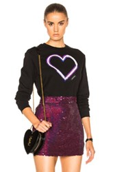 Carven Heart Sweatshirt In Black