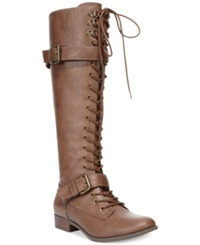 Rocket Dog Beany Wide Calf Boots Women's Shoes Brown