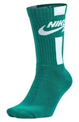 Men's Nike 'Air' Crew Socks Rio Teal White