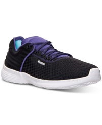 Reebok Women's Skyscape Fuse Walking Sneakers From Finish Line Black Sport Violet White