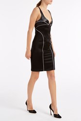 Galvan Bustier Contrast Dress Black