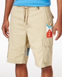 Lrg Men's Big And Tall Paddle Team Graphic Print Cargo Shorts Khaki