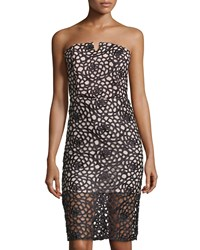 Romeo And Juliet Couture Strapless Overlay Dress Black Nude