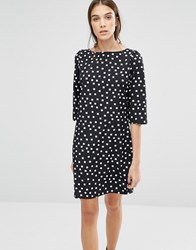 Trollied Dolly Gift Of A Shift Diamond Print Dress Black