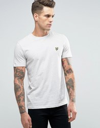 Lyle And Scott T Shirt Eagle Logo In Ecru Marl Off White Marl Beige