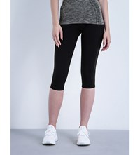 Sweaty Betty Power Run Jersey Capri Leggings Black