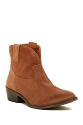 Chocolat Blu Jackson Western Ankle Boot Brown
