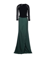 Antonio Berardi Long Dresses Dark Green