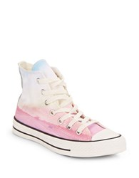 Converse Graphic All Star High Top Sneakers Pink