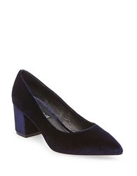 Steve Madden Bambu Velvet Dress Pumps Blue