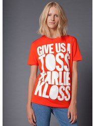 House Of Holland 10Th Anniversary Kloss T Shirt Red