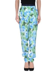 Stefanel Casual Pants Sky Blue