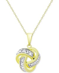 Victoria Townsend Knot Pendant Necklace In 18K Gold Over Sterling Silver