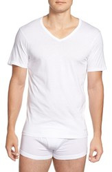 Calvin Klein Men's Slim Fit 3 Pack Cotton T Shirt White