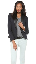 James Jeans Ponte Combo Blazer Blue Black Ponte