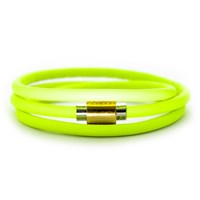 Liza Schwartz Jewelry Neon Flash Wrap Leather Bracelet Neon Yellow
