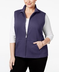 Karen Scott Plus Size Quilted Vest Only At Macy's Cassis