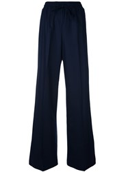 Twin Set Flared Drawstring Trousers Blue