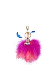 Sophie Hulme Wizzy Feather Key Ring Pink