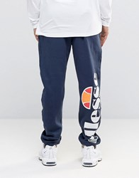 Ellesse Skinny Joggers With Large Logo Navy