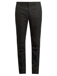 Jil Sander Mid Rise Skinny Fit Checked Trousers Grey Multi
