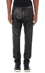 En Noir Men's Leather Jogger Pants Black