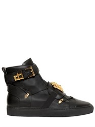 Versace Medusa Belted Leather High Top Sneakers