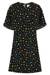 Sonia Rykiel Bird Print Dress Multicolor