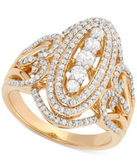 Wrapped In Love Diamond Cluster Ring 1 Ct. T.W. In 14K Gold