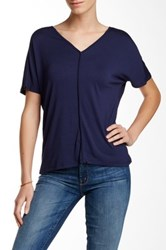 Fate V Neck Piped Tee Blue