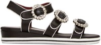 Marc By Marc Jacobs Black And Silver Charlotte Sandals