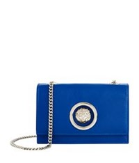Versus By Versace Mini Flap Chain Calf Shoulder Bag Navy