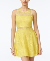Material Girl Juniors' Burnout Fit And Flare Dress Only At Macy's Yellow