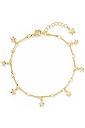 Ileana Makri Mini Star Gold Plated Cubic Zirconia Bracelet
