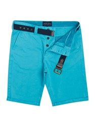 Criminal Todd Chino Shorts Turquoise
