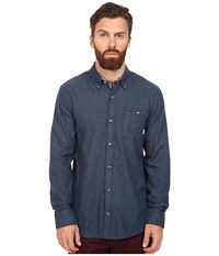 Vans Gisler Ii Long Sleeve Woven Dress Blues Men's Clothing Navy