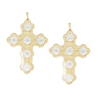 I Still Love You Nyc Luxe Cross Earring Gold