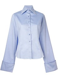 Marques Almeida Marques'almeida Pointed Collar Shirt Blue