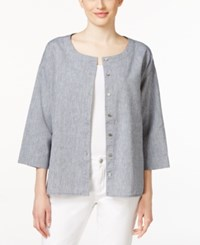 Eileen Fisher Chambray Shirt Denim