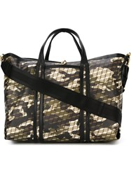 Pierre Hardy Camouflage Print Tote Nude And Neutrals