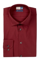 14Th And Union Long Sleeve Trim Fit Solid Dress Shirt Red