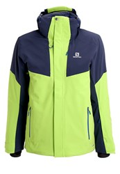 Salomon Icerocket Ski Jacket Granny Green Big Blue Light Green