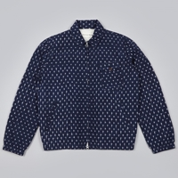 Universal Works Ikat Cross Windcheater Navy