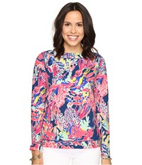 Lilly Pulitzer Jojo Top Indigo Sunken Treasure Women's Clothing Multi