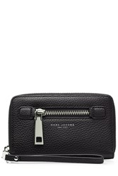 Marc Jacobs Leather Gotham Zip Phone Wristlet Black