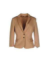 Elisabetta Franchi 24 Ore Suits And Jackets Blazers Women Camel
