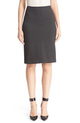 Armani Collezioni Women's Chevron Stretch Jersey Pencil Skirt