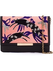Lizzie Fortunato Jewels 'Jumping Jaguars' Clutch Bag Black